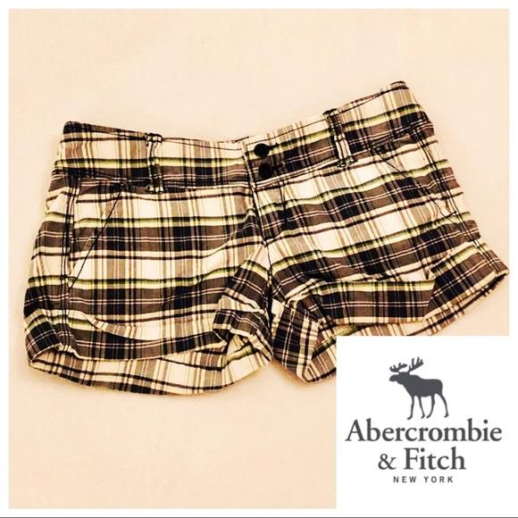 Abercrombie & Fitch Pants - Abercrombie 00 Preppy Short Shorts Plaid